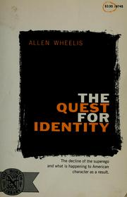 Cover of: The quest for identity