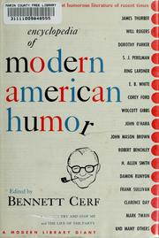Cover of: An encyclopedia of modern American humor