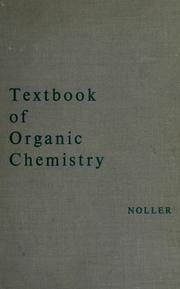 Cover of: Textbook of organic chemistry