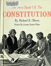 Cover of: The first book of the Constitution