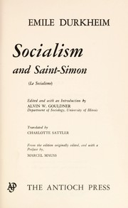 Cover of: Socialism and Saint-Simon
