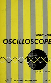 Cover of: Know your oscilloscope