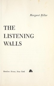 Cover of: The listening walls