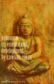 Cover of: Buddhism; its essence and development