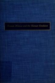 Cover of: Human nature and the human condition