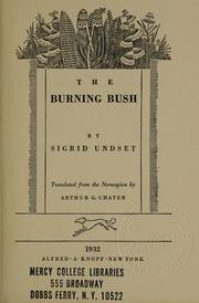 Cover of: The burning bush