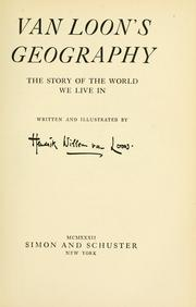 Cover of: Van Loon's geography