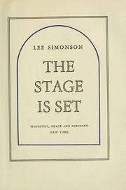 Cover of: The stage is set