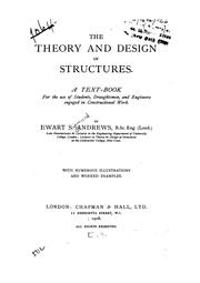 Cover of: The theory and design of structures
