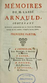 Cover of: Mémoires de m. l'abbé Arnauld