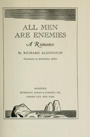Cover of: All men are enemies: a romance