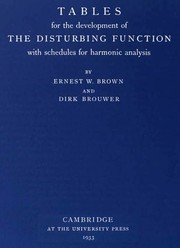 Cover of: Tables for the development of the disturbing function with schedules for harmonic analysis