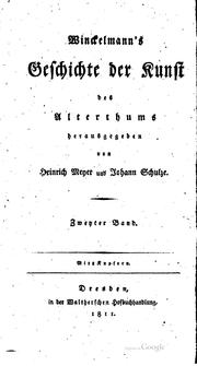 Cover of: Winckelmanns Werke: in einem Band