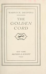 Cover of: The golden cord
