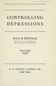 Cover of: Controlling depressions