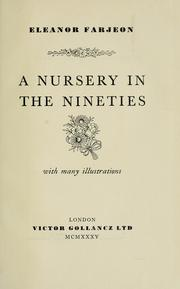 Cover of: A nursery in the nineties