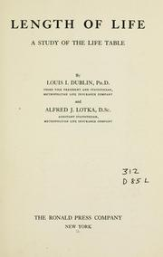 Cover of: Length of life