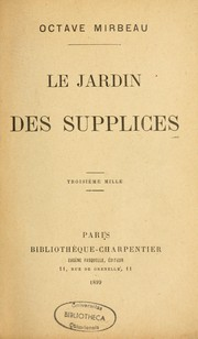 Cover of: Le jardin des supplices