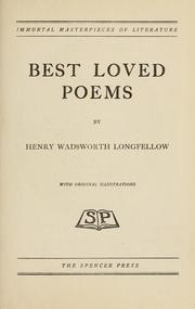 Cover of: Best loved poems