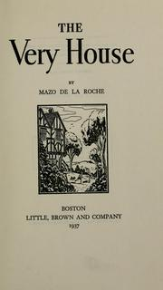Cover of: The very house