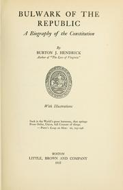Cover of: Bulwark of the republic