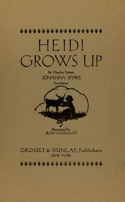 Cover of: Heidi grows up