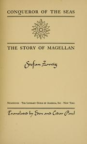 Cover of: Conqueror of the seas: the story of Magellan