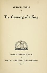 Cover of: The crowning of a king