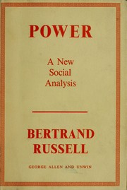 Cover of: Power: a new social analysis