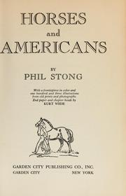 Cover of: Horses and Americans