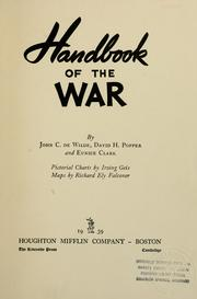 Cover of: Handbook of the war