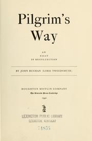 Cover of: Pilgrim's way: an essay in recollection