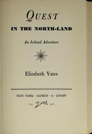 Cover of: Quest in the north-land