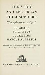 Cover of: The Stoic and Epicurean philosophers