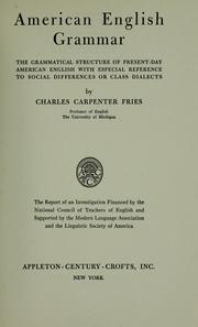 Cover of: American English grammar