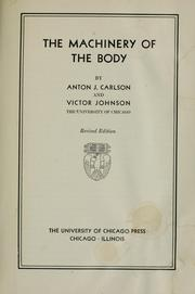 Cover of: The machinery of the body