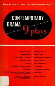 Cover of: Contemporary drama; nine plays, American, English, European