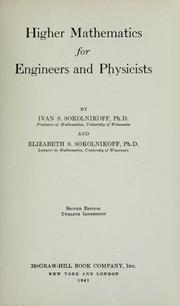 Cover of: Higher mathematics for engineers and physicists