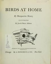 Cover of: Birds at home