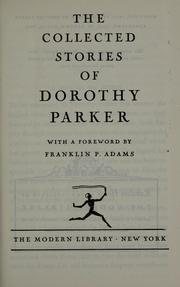 Cover of: The collected stories of Dorothy Parker