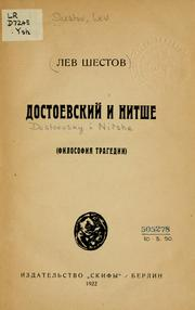 Cover of: Dostoevskiĭ i Nitshe