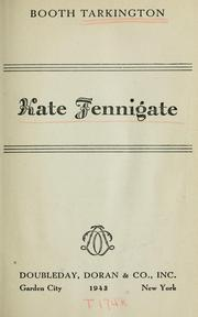 Cover of: Kate Fennigate