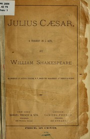 Cover of: Julius Cæsar