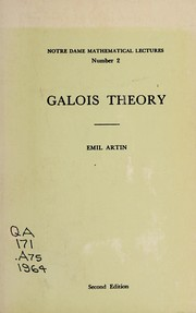 Cover of: Galois theory
