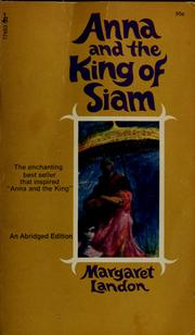 Cover of: Anna and the King of Siam