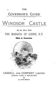 Cover of: The Governor's guide to Windsor castle