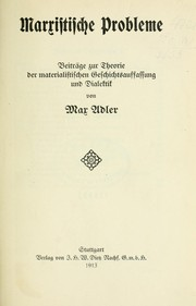 Cover of: Marxistische Probleme