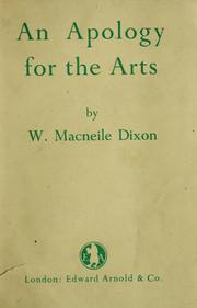 Cover of: An apology for the arts