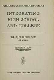 Cover of: Integrating high school and college