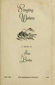 Cover of: Singing waters